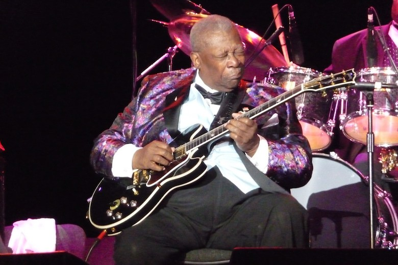 BB King and his guitar Lucille